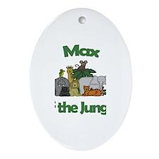 Max of the Jungle Oval Ornament