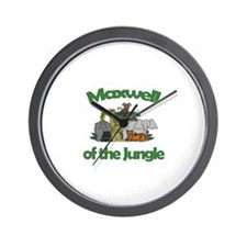 Maxwell of the Jungle  Wall Clock