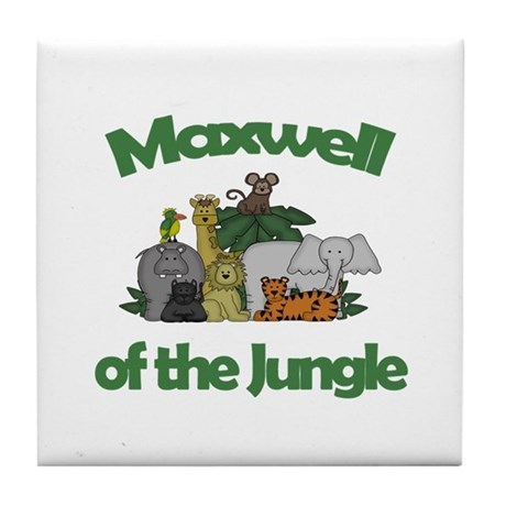 Maxwell of the Jungle Tile Coaster