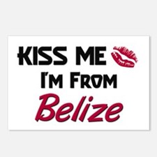 Kiss Me I'm from Belize Postcards (Package of 8)