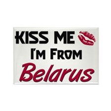Kiss Me I'm from Belarus Rectangle Magnet