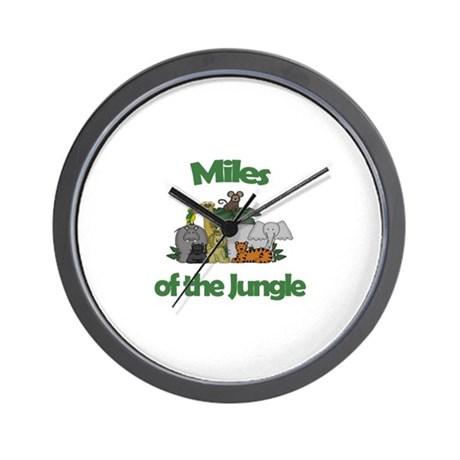 Miles of the Jungle Wall Clock