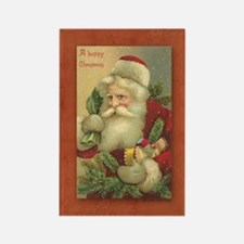 TLK024 Vintage Santas Rectangle Magnet