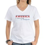 A Nation Built by Immigrants Women's V-Neck T-Shir