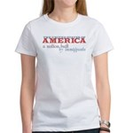 A Nation Built by Immigrants Women's T-Shirt