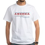 A Nation Built by Immigrants Tee Shirt (White)