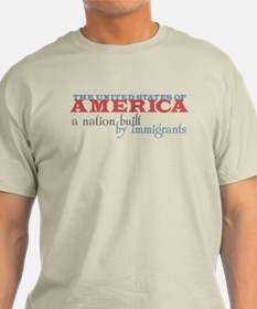 A Nation Built by Immigrants T-Shirt (Light)
