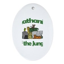 Nathaniel of the Jungle Oval Ornament