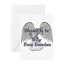 Blessed Navy Grandma Greeting Card