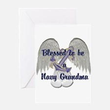 Blessed Navy Grandma Greeting Card