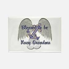 Blessed Navy Grandma Rectangle Magnet