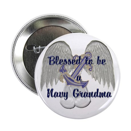 "Blessed Navy Grandma 2.25"" Button (10 pack)"