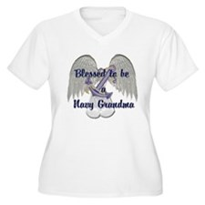 Blessed Navy Grandma T-Shirt