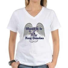 Blessed Navy Grandma Shirt