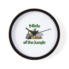 Nick of the Jungle  Wall Clock
