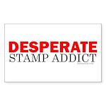 Desperate Stamp Addict Rectangle Sticker