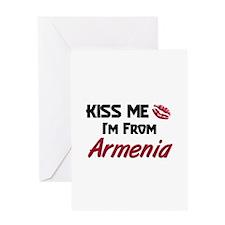 Kiss Me I'm from Armenia Greeting Card