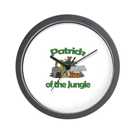 Patrick of the Jungle Wall Clock