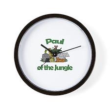 Paul of the Jungle  Wall Clock