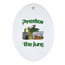 Preston of the Jungle Oval Ornament