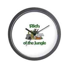 Rich of the Jungle  Wall Clock