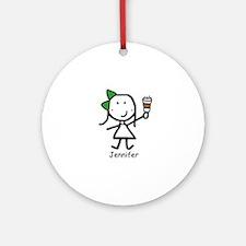 Coffee - Jennifer Ornament (Round)