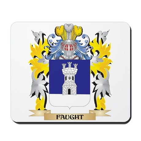 Faught Coat of Arms - Family Crest Mousepad