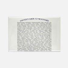 Sawyer's Guide to Nicknames Rectangle Magnet