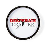 Desperate Crafter Wall Clock