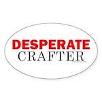 Desperate Crafter Oval Sticker