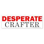 Desperate Crafter Bumper Sticker