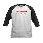Desperate Crafter Kids Baseball Jersey