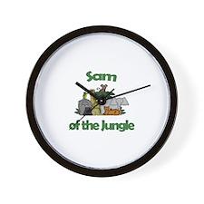 Sam of the Jungle  Wall Clock