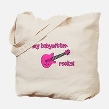 My Babysitter Rocks! pink gui Tote Bag