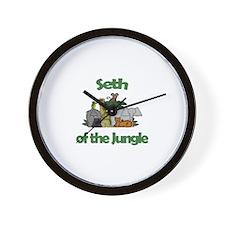 Seth of the Jungle  Wall Clock