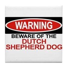 DUTCH SHEPHERD DOG Tile Coaster
