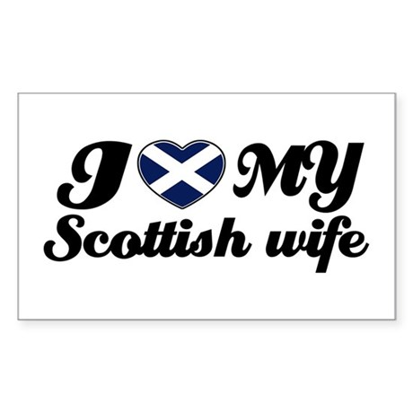 I love my Scottish wife Rectangle Sticker