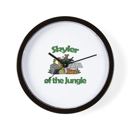 Skyler of the Jungle Wall Clock