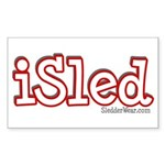 iSled Rectangle Sticker
