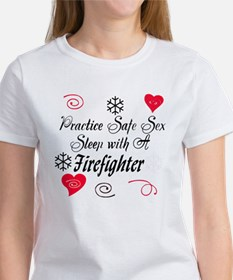 Safe Sex With A Firefighter Tee