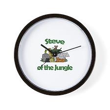 Steve of the Jungle  Wall Clock