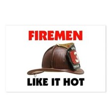 FIREMEN Postcards (Package of 8)