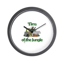 Tim of the Jungle  Wall Clock