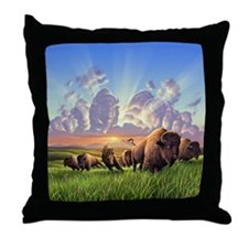 Stampede! Throw Pillow