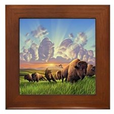 Stampede! Framed Tile