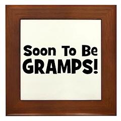 Soon To Be Gramps! Framed Tile
