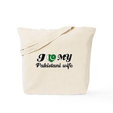 I love my Pakistani wife Tote Bag