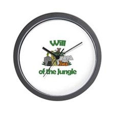 Will of the Jungle  Wall Clock