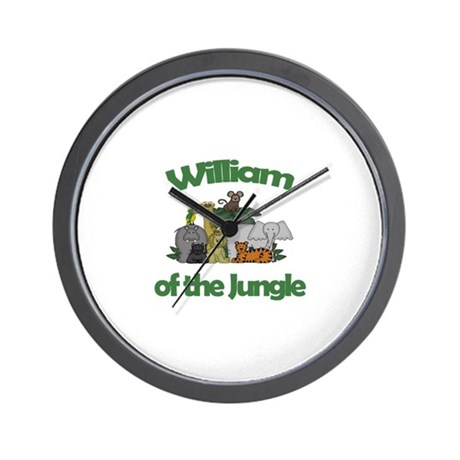 William of the Jungle Wall Clock