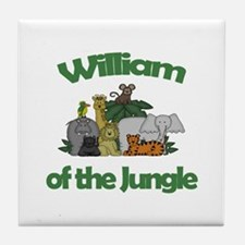 William of the Jungle  Tile Coaster
